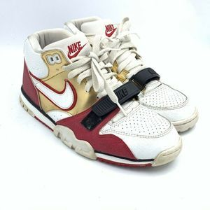 Nike Air Trainer Mens Sneakers White Red Gold 8.5
